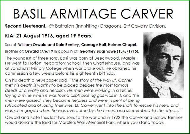 Basil Carver 21 August 1916