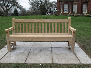 Bowling Green bench after