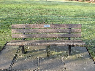 Bench dedicated to Ellen Greenfield before