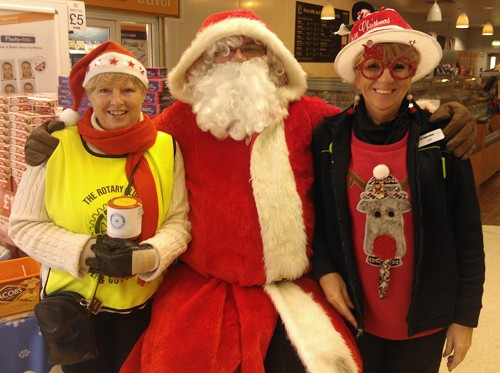 Di Jackson, Santa and Co-Op Assistant