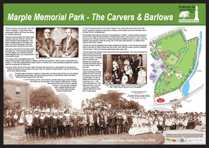 Carver and Barlow display panel