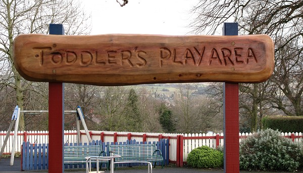 Toddlers Play Area Sign