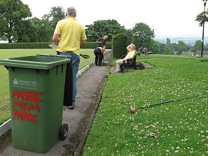 Bowling Green tidy up.