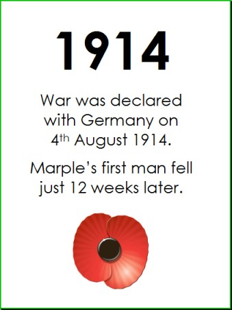 The impact of WWI on Marple