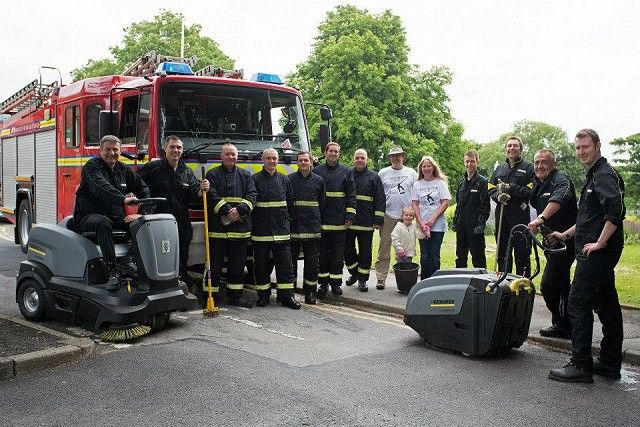 Marple Firefighters with Friends of the Park
