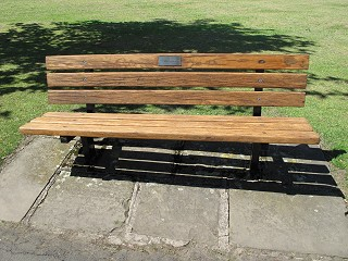 Bench dedicated to Ellen Greenfield after