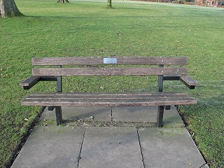 Bench dedicated to Pamela Holloway before